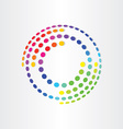 abstract color background with circles and vector image