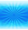 Sunburst and blue sky cloud background vector image