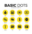 economy flat icons set vector image