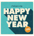 happy new year 2016 card retro title vector image