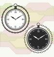 Vintage pocket watch icon template vector image