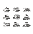 Fast delivery set icons Free shipping symbol vector image