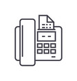 fax line icon sign on vector image