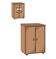 Two wooden cupboards vector image