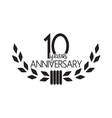 10 years anniversary vector image vector image
