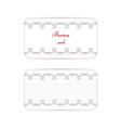 a set of two vintage business cards the drawing vector image