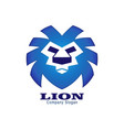 abstract blue lion vector image vector image