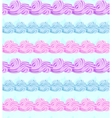 abstract seamless pattern with sweet cream stripes vector image vector image