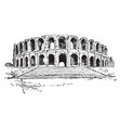 amphitheater of arles a roman amphitheatre in the vector image vector image