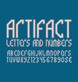 artifact letters and numbers with currency vector image vector image