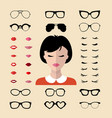 big set dress with different woman vector image vector image