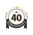 birthday vintage logo template to 40 th