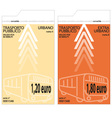 bus tickets vector image vector image