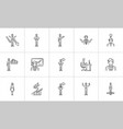 business hand drawn sketch icon set vector image vector image