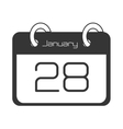 Calendar showing day of month vector image vector image