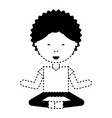 cartoon man practicing yoga vector image vector image