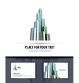 city logo icon emblem template business card vector image vector image
