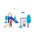 city playground - flat design style colorful vector image