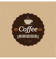 coffee house badge vector image vector image