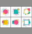 collection of abstract posters vector image vector image