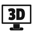 computer monitor with 3d inscription icon simple vector image vector image