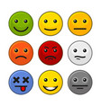 customer feedback smile icons set on white vector image vector image