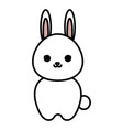 cute and tender rabbit kawaii style vector image vector image