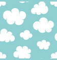 cute baby seamless pattern with blue sky with vector image vector image