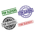 damaged textured for clevers seal stamps vector image vector image