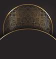 decorative gold and black mandala design vector image vector image