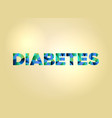 diabetes concept colorful word art vector image vector image