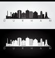 durham usa skyline and landmarks silhouette vector image vector image