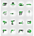 electric repair tools flat icons 17 vector image