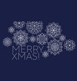 folk style snowflakes christmas decorative motif vector image vector image
