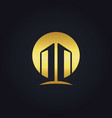 gold building architecture construction logo vector image vector image