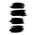 grunge ink brush strokes freehand black brushes vector image vector image