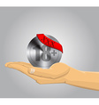 Hand holding an XXX icon vector image