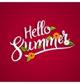 hello summer lettering typography with flowers vector image vector image