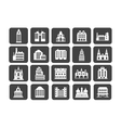 Icons of houses silhouettes vector image vector image