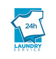 laundry service emblem with t-shirt vector image vector image