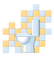 lavatory interior vector image vector image