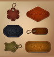 leather labels collection vector image