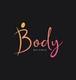 letter b logo body logo on black background vector image