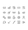 line optometry icons vector image vector image