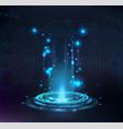 magic portal hologram circle teleport or sci-fi vector image