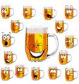 Mug fresh beer cartoon vector image