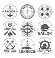 Nautical Emblem Set vector image vector image