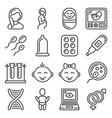 pregnancy and baby planing icons set vector image