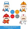 Profession set vector image vector image