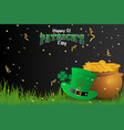 Realistic st patricks day background and banner